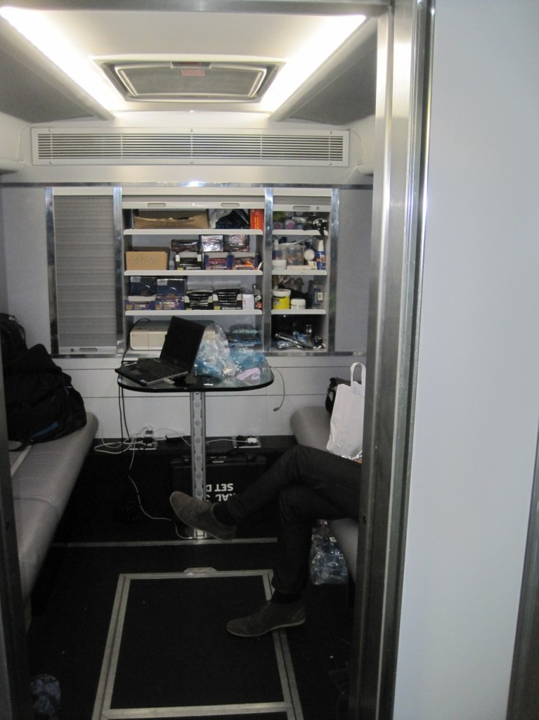 Meeting room where the world's supply of energy bars, gels and powders are stored - Image ©Paul Harris / Cycling Shorts.
